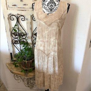 Kaaku custom bleached embroidered detail dress